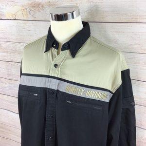 Harley-Davidson Shirts - Men's Harley Davidson HD Shirt Long Sleeve Large